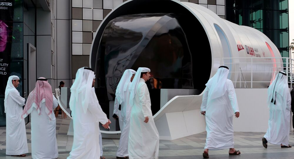 Roads and Transport Authority (RTA) unveil the design model of the hyperloop in Dubai, United Arab Emirates February 22, 2018.