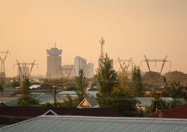 Lusaka (Zambia) at dusk