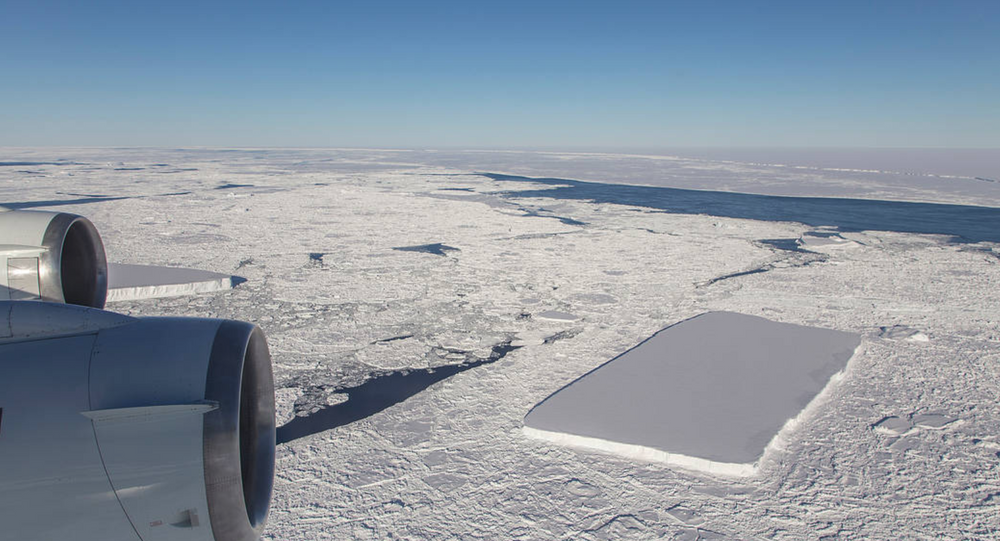 NASA releases image of second rectangular iceberg spotted by Operation IceBridge earlier this month