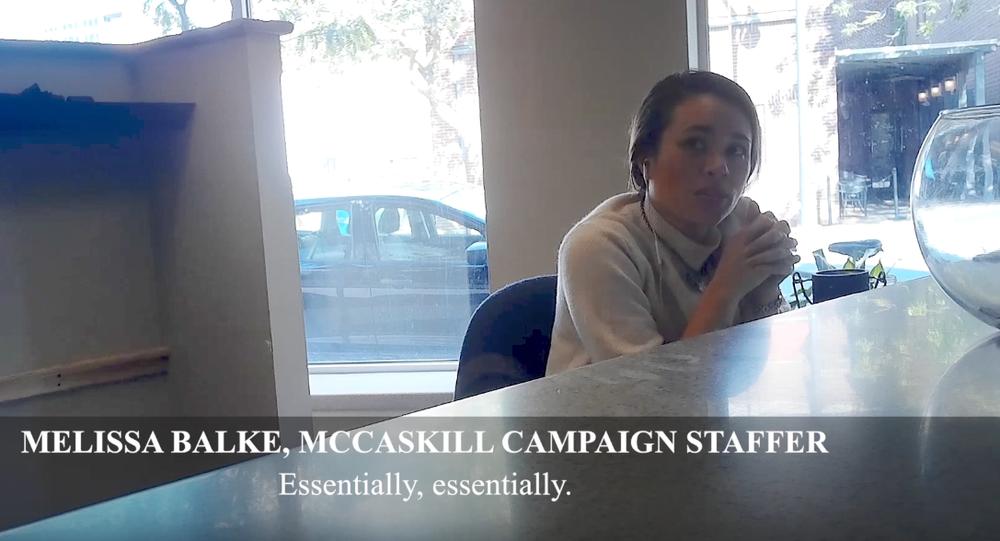 Melissa Balke, a campaign staffer for Missouri Senator Claire McCaskill, in a video filmed by Project Veritas