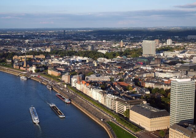 Rhine River in Dusseldorf, Germany