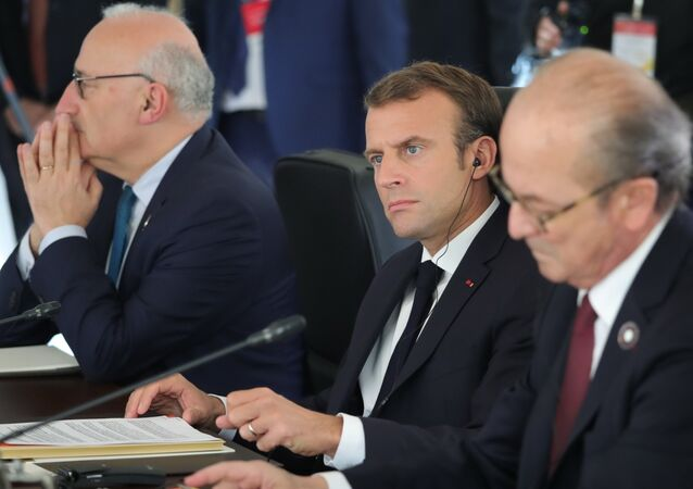 French President Emmanuel Macron during a summit in Istanbul, 27.20.2018