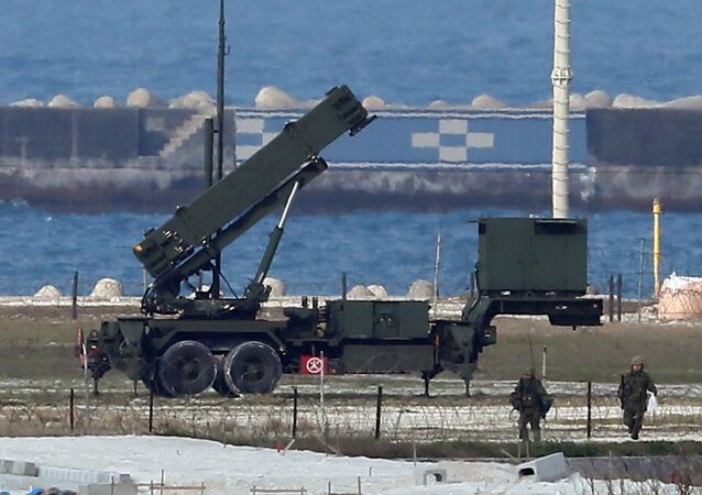 A Japanese Self-Defense Force Patriot Advanced Capability-3 (PAC-3) interceptor launcher is deployed at Ishigaki island in Japan's southern island of Okinawa (File)