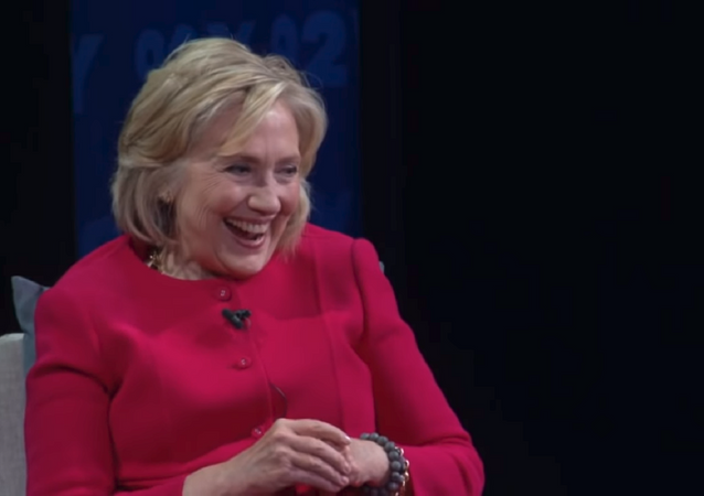 Hillary Clinton moments after making a racist joke in an interview with Recode.
