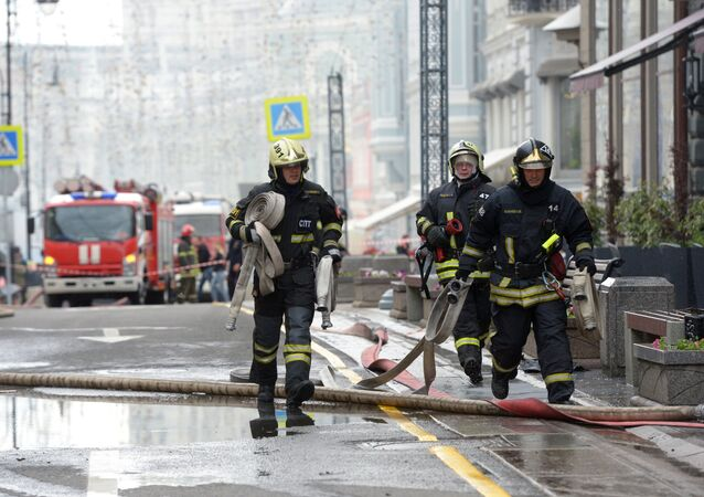 Firefighting team of the Russian Emergencies Ministry (File)