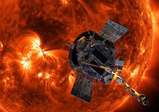 Illustration of Parker Solar Probe approaching the Sun