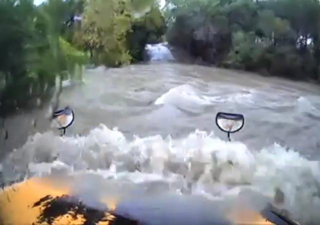 Texas school bus swept way in floodwaters