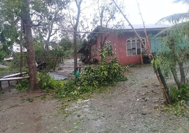 Damages caused by Typhoon Yutu in Isabela province where the typhoon first made landfall in Philippines are seen in this October 30, 2018