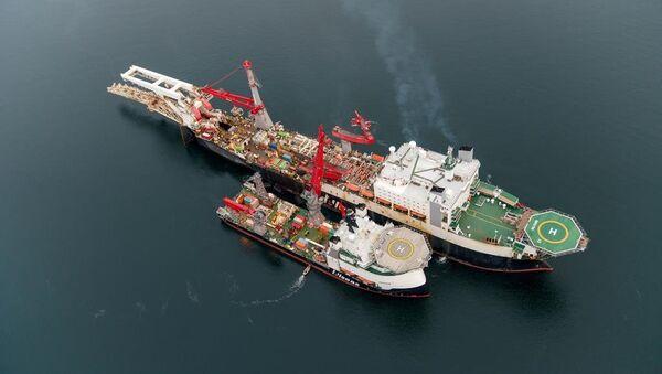 The construction of Nord Stream 2 gas pipeline. File photo - Sputnik International