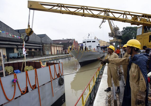 Indan workers of Garden Reach Shipbuilders and Engineers Limited (File)