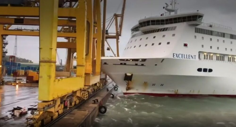 Spain: Fire erupts as passenger ferry collides with crane in Barcelona