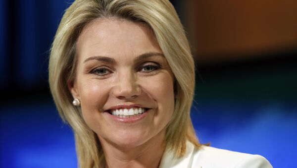 State Department spokeswoman Heather Nauert speaks during a briefing at the State Department in Washington, Wednesday, Aug. 9, 2017. - Sputnik International