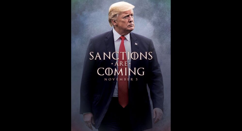 US President Donald Trump tweeted a Game of Thrones-inspired meme promoting his impending sanctions against Iran.