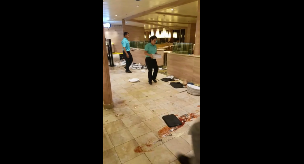 Carnival Sunshine cruise lists to one side, striking panic into the hundreds of passengers aboard