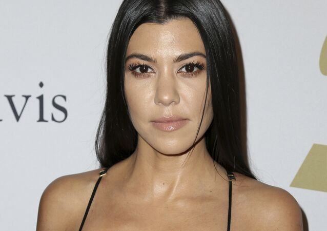 Kourtney Kardashian attends the Clive Davis and The Recording Academy Pre-Grammy Gala at The Beverly Hilton Hotel on Saturday, Feb. 11, 2017, in Beverly Hills, Calif.