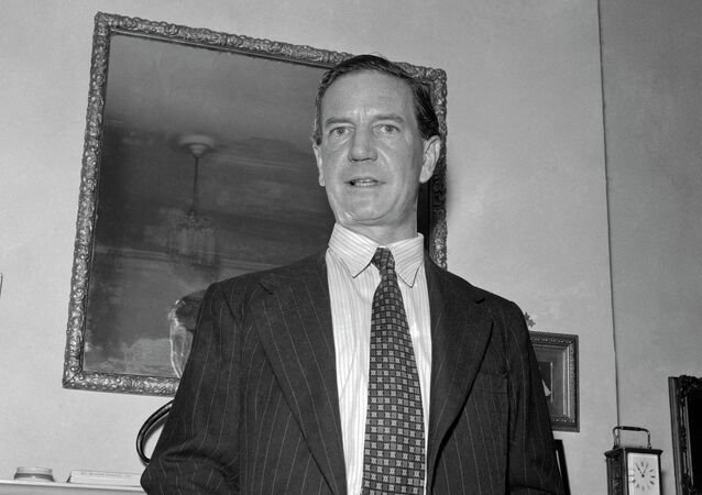 Harold Kim Philby, British-born master spy in a 1955 photo