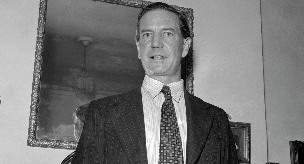Harold Kim Philby, British-born master spy in a 1955 photo