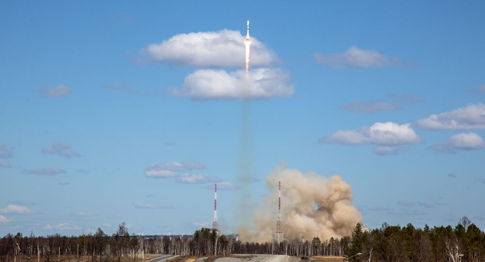 Russian carrier rocket Soyuz-ST launched from the Kourou spaceport in French Guiana successfully put the MetOp-С meteorological satellite into orbit
