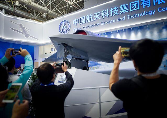 Фотографирование беспилотного летательного аппарата CH-7 HALE на авиасалоне Airshow China-2018
