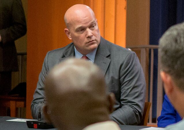 Chief of Staff to the Attorney General Matthew Whitaker attends a roundtable discussion with foreign liaison officers at the Justice Department in Washington, U.S., August 29, 2018.