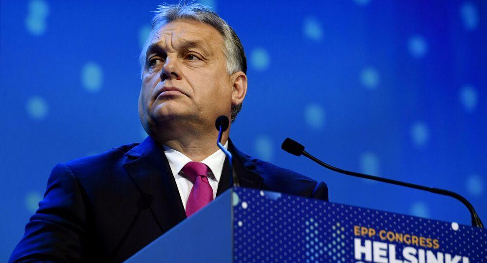 Hungarian Prime Minister Viktor Orban at the European People's Party (EPP) congress in Helsinki, Finland November 8, 2018