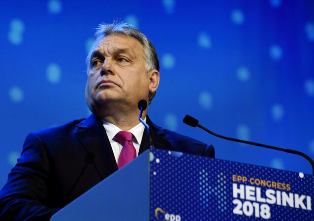 Hungarian Prime Minister Viktor Orban at the European People's Party (EPP) congress in Helsinki, Finland November 8, 2018