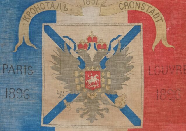 Flag commemorating the Franc-Russian alliance before WWI.