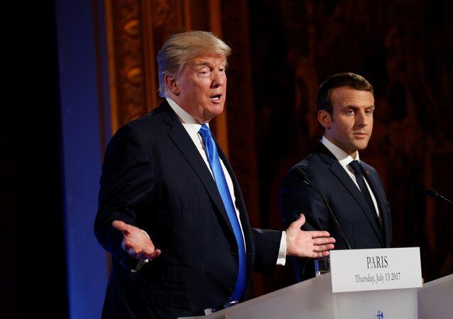 French President Emmanuel Macron and U.S. President Donald Trump