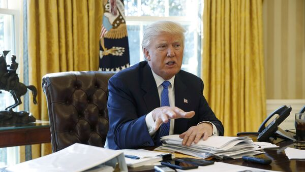 U.S. President Donald Trump is interviewed by Reuters in the Oval Office at the White House in Washington - Sputnik International