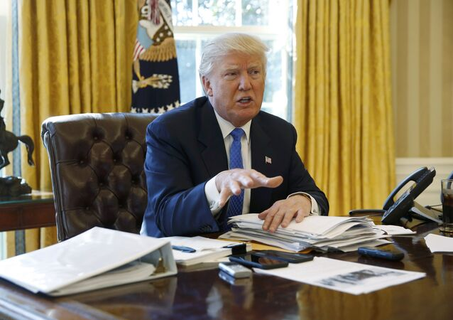 US President Donald Trump is interviewed by Reuters in the Oval Office at the White House in Washington, February 23, 2017. REUTERS/Jonathan Ernst