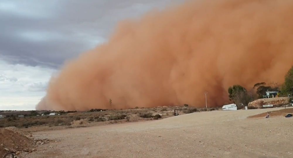 Dust storm in South New Wales, Australia