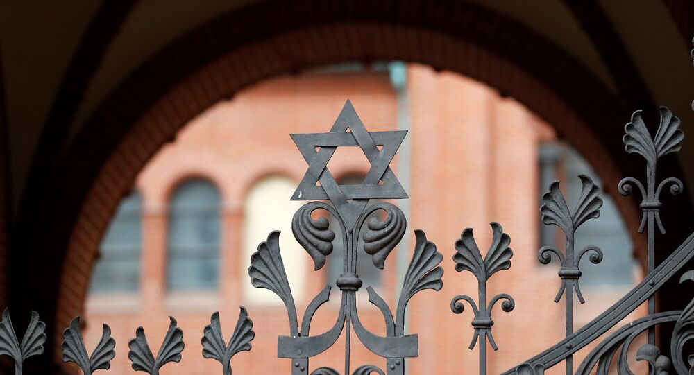 A part of a Rykestrasse Synagogue is pictured in Berlin
