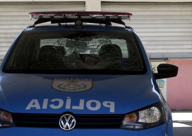 A policeman in Rio de Janeiro