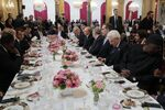 Russian President Vladimir Putin during a working lunch hosted by French President Emmanuel Macron for heads of state and government invited to attend events to mark 100 years since the end of WWI.