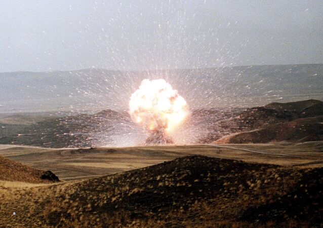 Missiles, SS-23 Destroyed. The 957th and last of the Soviet Union's SS-23 shorter range missiles