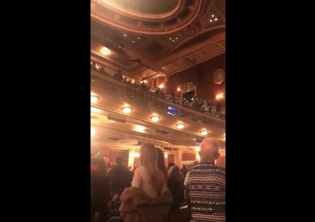 """A man stands at intermission of tonight's performance of Fiddler in Baltimore and yells, """"Heil Hitler,"""" along with pro-Trump references"""