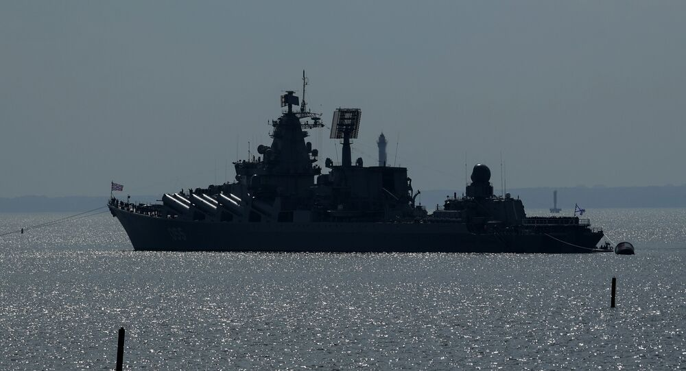 Missile cruiser Marshal Ustinov (File)