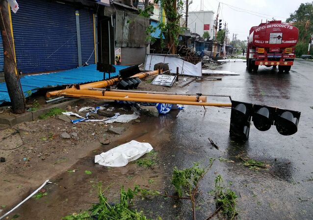 The aftermath of cyclone Gaja is seen in Tamil Nadu, India November 16, 2018 in this picture obtained from social media