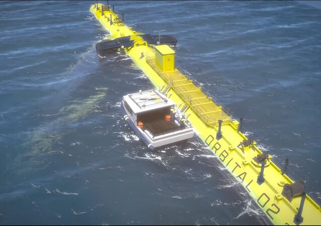 Orbital O2 2MW floating tidal turbine