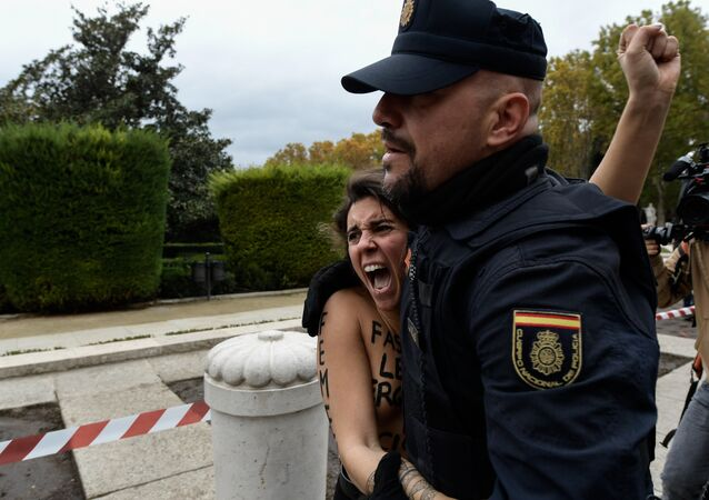 Femen Movement Protests in Madrid