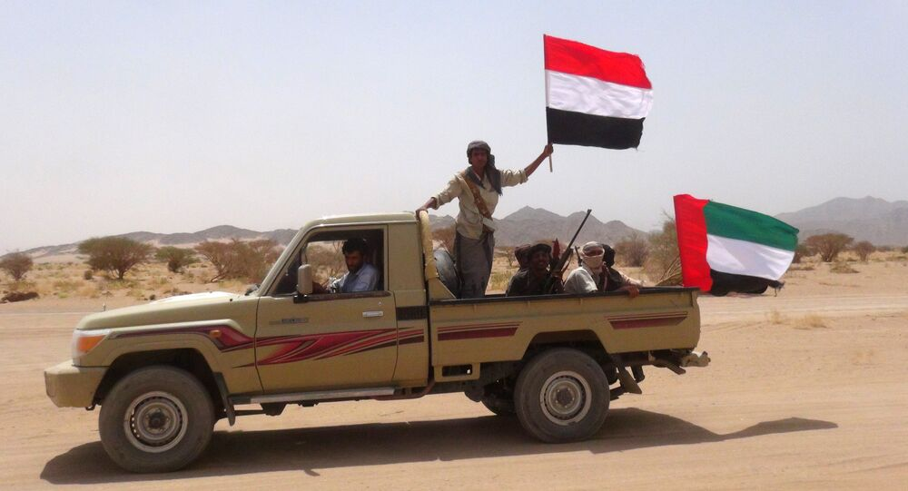 Yemeni tribesmen from the Popular Resistance Committees