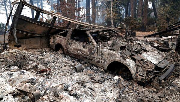 A car destroyed by the Camp Fire is seen in Paradise, California - Sputnik International