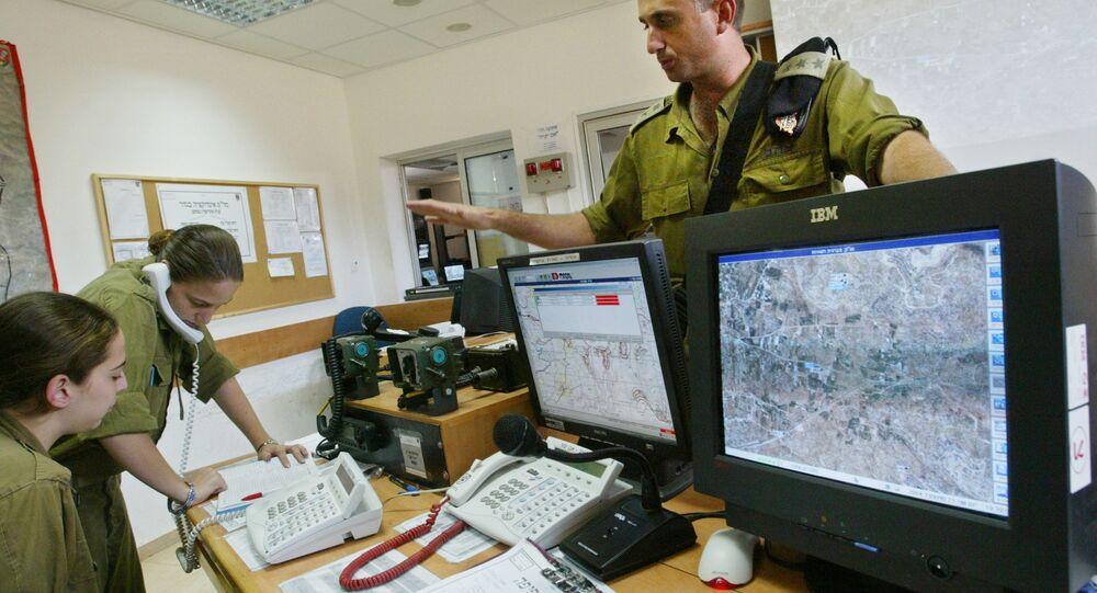 Israeli military surveillance operations; file photo.
