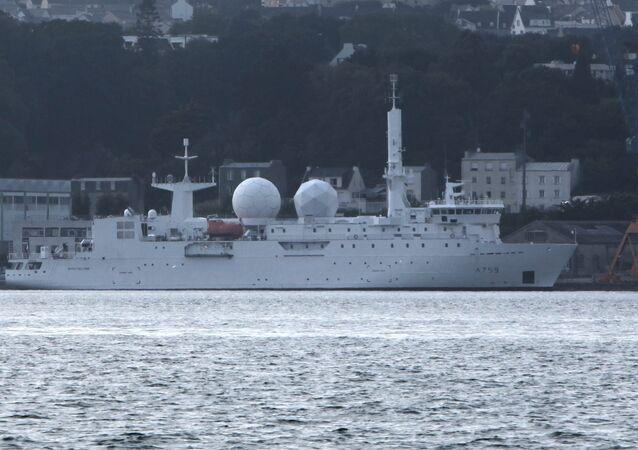 Dupuy-de-Lôme Electronic Intelligence Ship in the Port of Brest