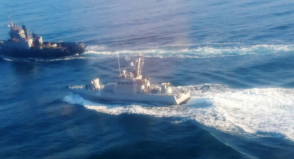 Several Ukrainian warships crossing Russia's territorial waters and attempting to pass through the Kerch Strait