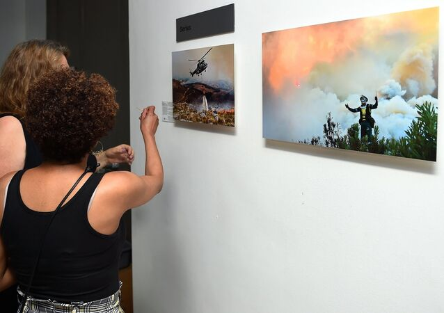 Opening of an exhibition of winners of a competition of Andrey Stenin in Cape Town