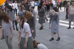Theatre Troupe Conducts Zombie-Walk Performance