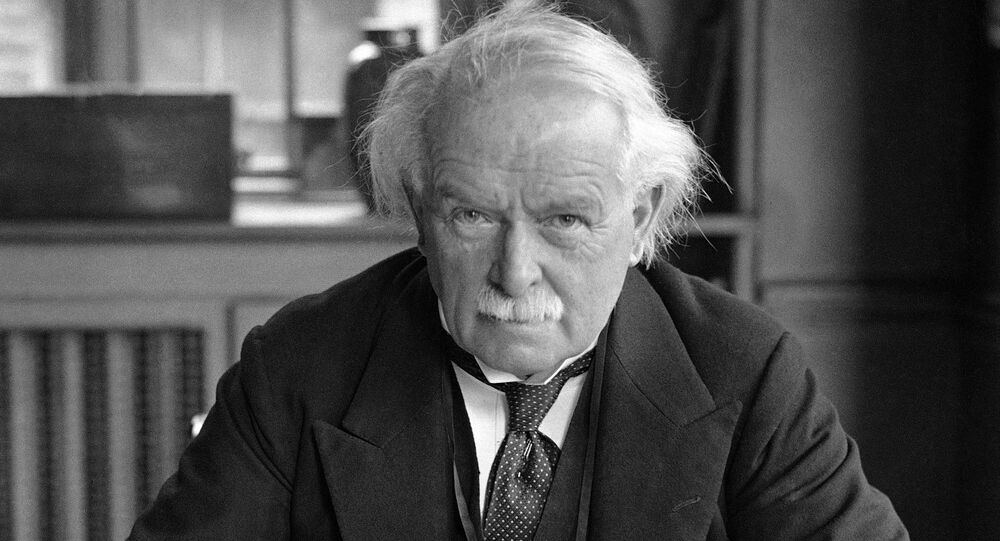 David Lloyd George, Leader of the Liberal Party, at work at his desk in Holland Park, London, England on March 18, 1931.