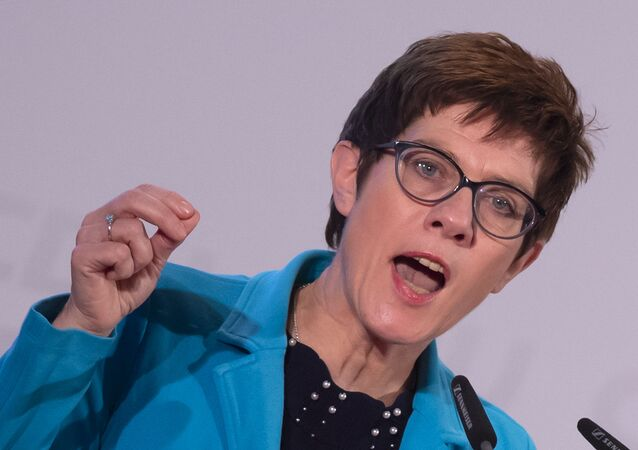 German Defense Minister Annegret Kramp-Karrenbauer