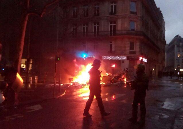 Yellow vests protests in Paris, December 1, 2018.